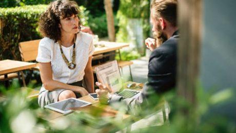Le groupe Arkose & Co organise un speed dating dans le blocpark Arkose Nation.